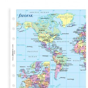 Мапа світу до органайзеру Filofax, Personal