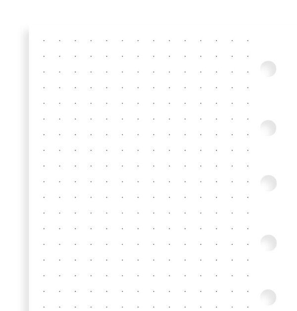 Бланки Filofax в крапку, Pocket, white
