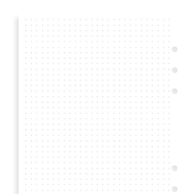 Бланки Filofax в крапку, A5, white