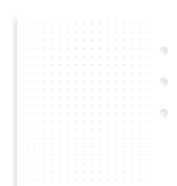 Бланки Filofax в крапку, Personal, white