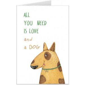 Листівка S.Brothers, All you need is Love and Dog