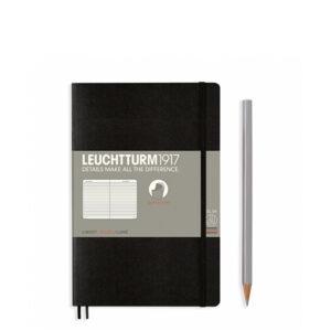 Блокнот Leuchtturm1917 Paperback (B6), М'яка обкладинка, Чорний, Лінія