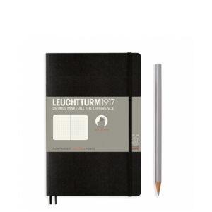 Блокнот Leuchtturm1917 Paperback (B6), М'яка обкладинка, Чорний, Крапка