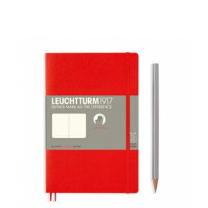 Блокнот Leuchtturm1917 Paperback (B6), М'яка обкладинка, Червоний, Чисті аркуші