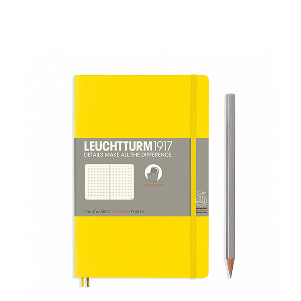 Блокнот Leuchtturm1917 B6 , М'яка обкладинка, Paperback, Лимонний, Крапка