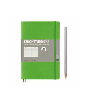 Блокнот Leuchtturm1917 Paperback (B6), М'яка обкладинка, Свіжий зелений, Лінія