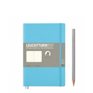 Блокнот Leuchtturm1917 Paperback (B6), М'яка обкладинка, Льодяний синій, Чисті аркуші