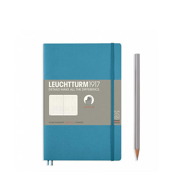 Блокнот Leuchtturm1917 Paperback (B6), М'яка обкладинка, Холодний синій, Крапка