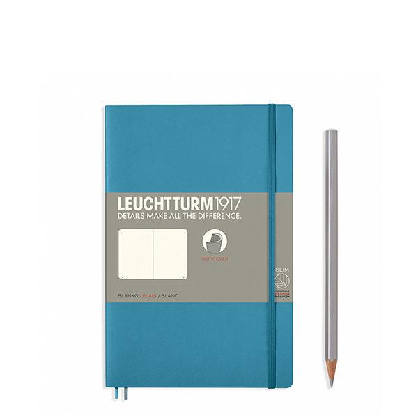 Блокнот Leuchtturm1917 Paperback (B6), М'яка обкладинка, Холодний синій, Чисті аркуші