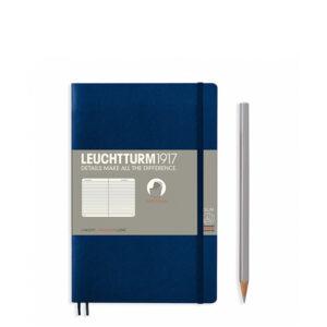 Блокнот Leuchtturm1917 Paperback (B6), М'яка обкладинка, Темно-синій, Лінія