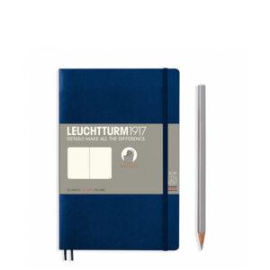 Блокнот Leuchtturm1917 Paperback (B6), М'яка обкладинка, Темно-синій, Чисті аркуші