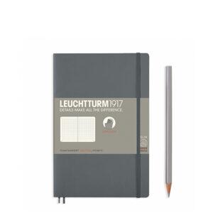 Блокнот Leuchtturm1917 Paperback (B6), М'яка обкладинка, Антрацит, Крапка