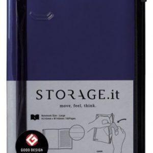 Блокнот STORAGE.it L, Темно-синій