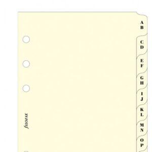 Розділювачі алфавітні Filofax, А5, cream