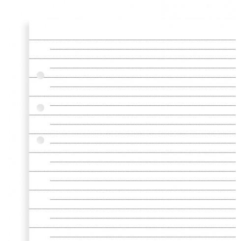 Бланки в лінію до органайзеру Filofax, A5, (Clipbook), білі