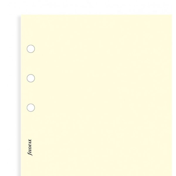 Бланки чисті аркуші Filofax, Personal, cotton cream