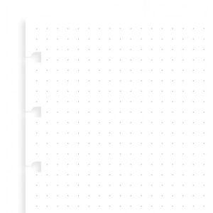 Бланки в крапку для блокноту Filofax, A5, білі