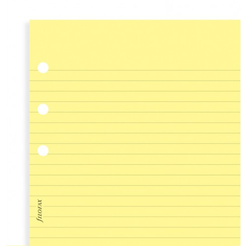 Бланки в лінію Filofax, Pocket, жовті