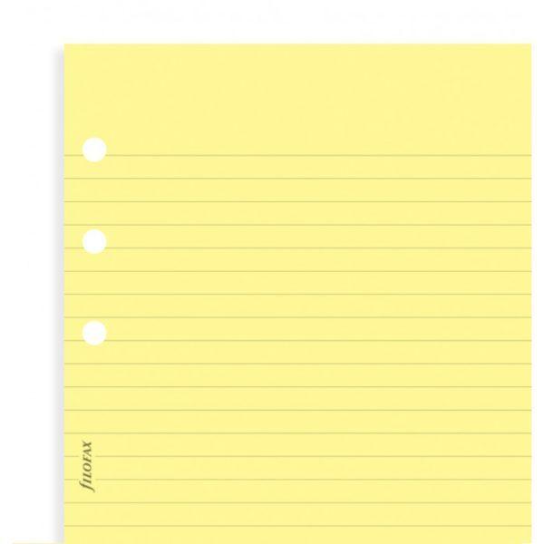 Бланки в лінію Filofax, Personal, жовті