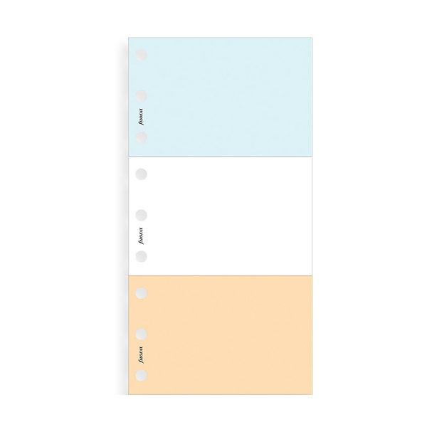 Блокнот для нотаток Filofax Pocket-A5, 3 шт (white, blue, salmon)