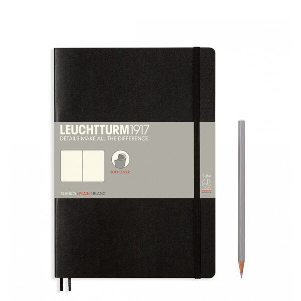 Блокнот Leuchtturm1917 Composition (B5), чорний, чисті аркуші