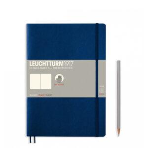 Блокнот Leuchtturm1917 Composition (B5), темно-синій, чисті аркуші
