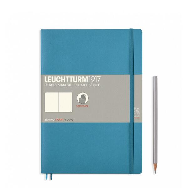 Блокнот Leuchtturm1917 Composition (B5), холодний синій, чисті аркуші