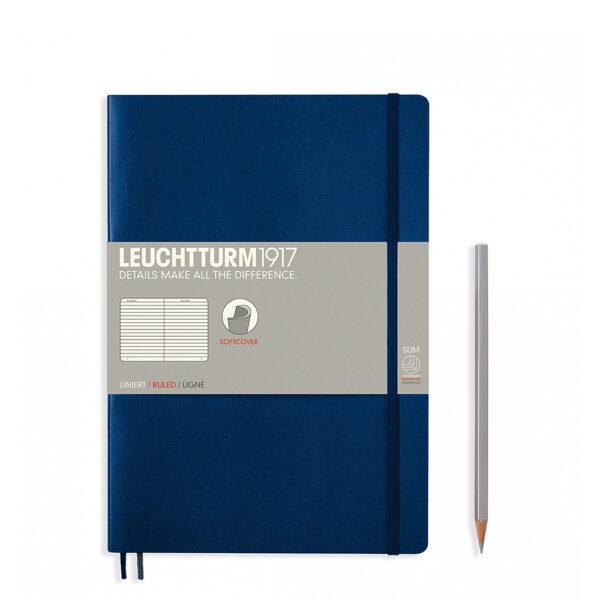 Блокнот Leuchtturm1917 Composition (B5), темно-синій, лінія