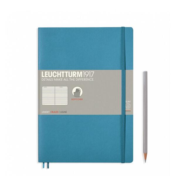 Блокнот Leuchtturm1917 Composition (B5), холодний синій, лінія