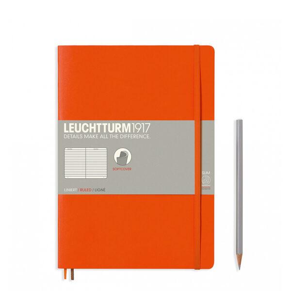 Блокнот Leuchtturm1917 Composition (B5), помаранчевий, лінія