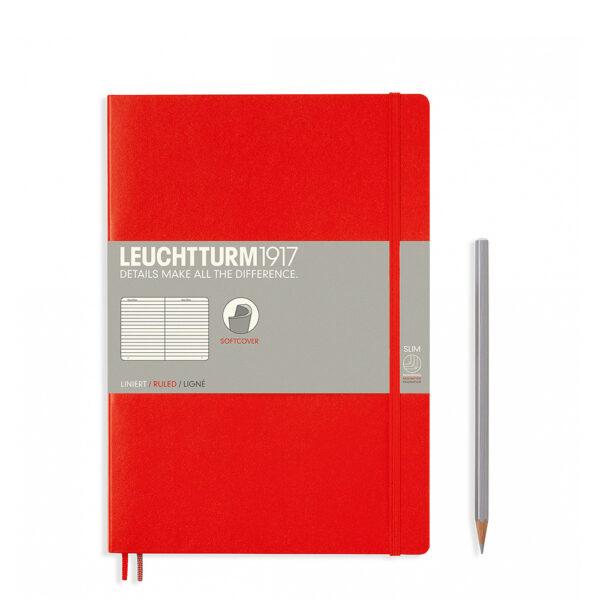 Блокнот Leuchtturm1917 Composition (B5), червоний, лінія