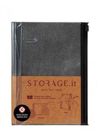 Блокнот STORAGE.it Denim M, Чорний