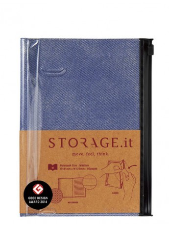 Блокнот STORAGE.it Denim M, Синій