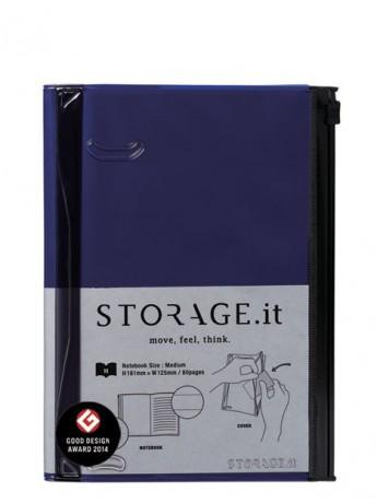 Блокнот STORAGE.it M, Темно-синій