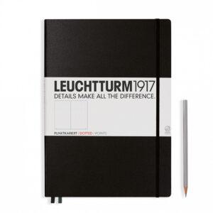 Блокнот Leuchtturm1917 Master Classic А4+, чорний, крапка