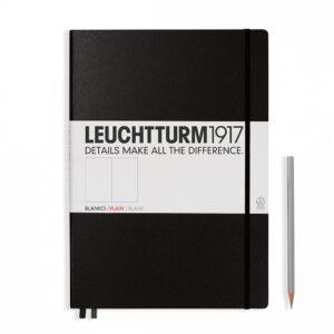 Блокнот Leuchtturm1917 Master Classic А4+, чорний, чисті аркуші