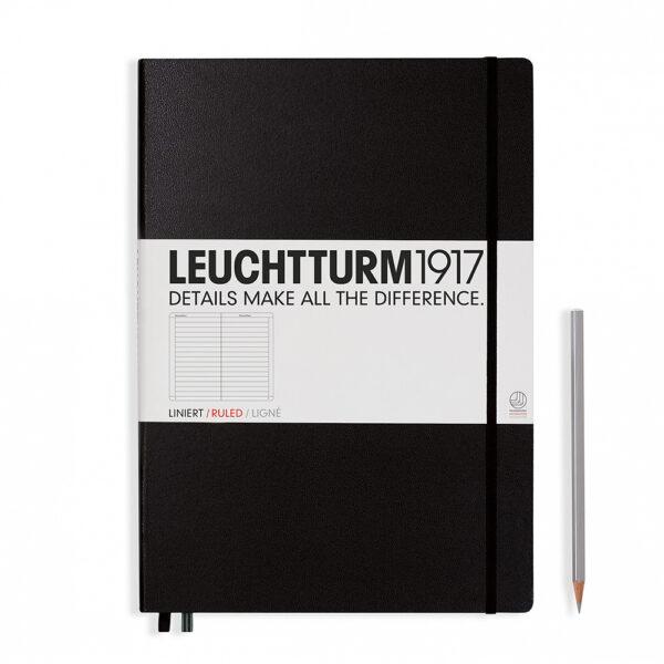 Блокнот Leuchtturm1917 Master Classic A4+, чорний, лінія