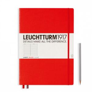 Блокнот Leuchtturm1917 Master Classic А4+, червоний, лінія