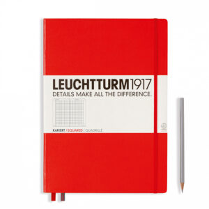 Блокнот Leuchtturm1917 Master Classic А4+, червоний, клітинка