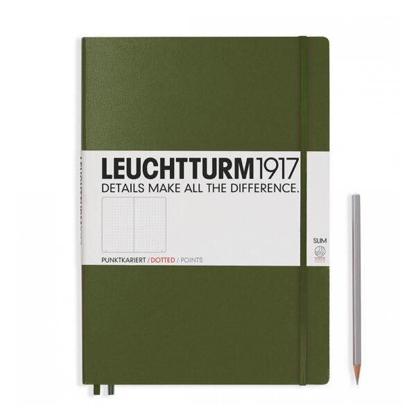 Блокнот Leuchtturm1917 Master Slim A4+, хакі, крапка