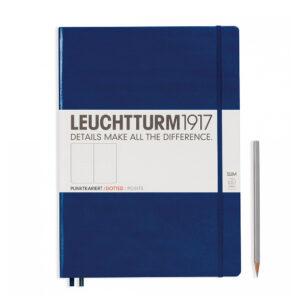 Блокнот Leuchtturm1917 Master Slim A4+, темно-синій, крапка