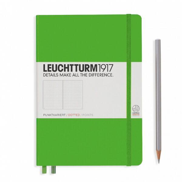 Блокнот Leuchtturm1917 середній, свіжий зелений, крапка