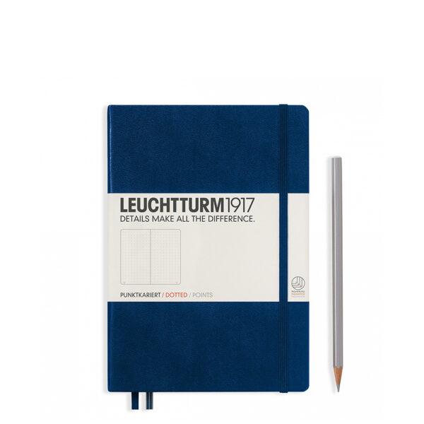 Блокнот Leuchtturm1917 середній, темно-синій, крапка