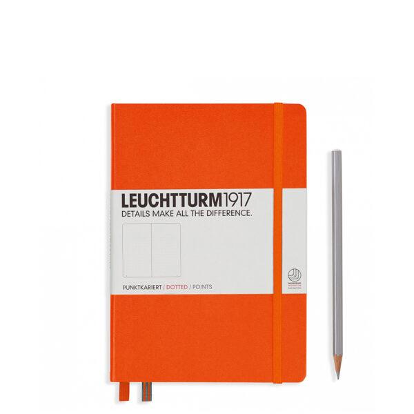 Блокнот Leuchtturm1917 середній, помаранчевий, крапка