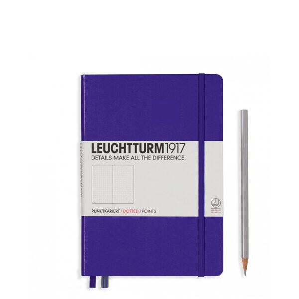 Блокнот Leuchtturm1917 середній, пурпурний, крапка