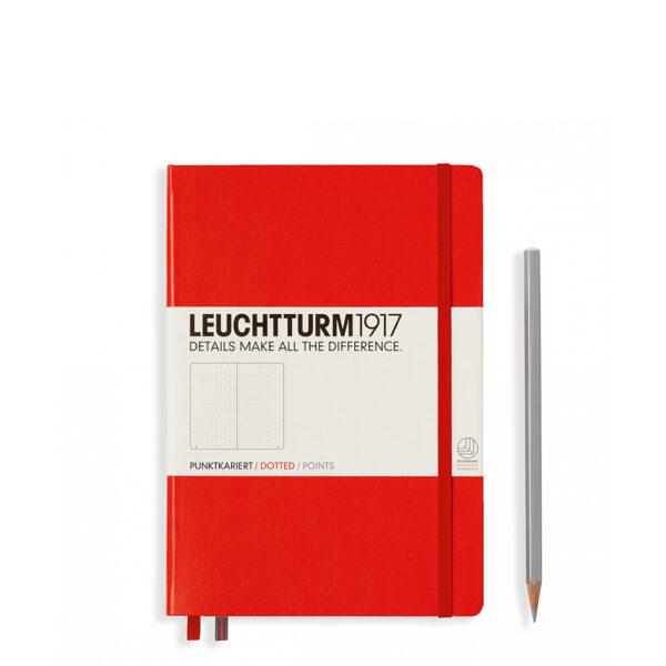 Блокнот Leuchtturm1917 середній, червоний, крапка