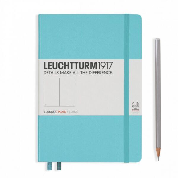 Блокнот Leuchtturm1917 середній, льодяний синій, лінія