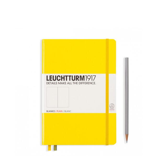 Блокнот Leuchtturm1917 середній, лимонний, чисті аркуші