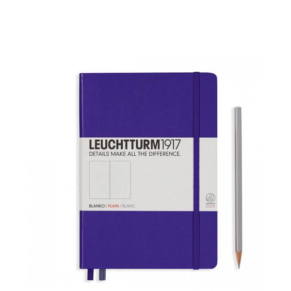 Блокнот Leuchtturm1917 середній, пурпурний, чисті аркуші