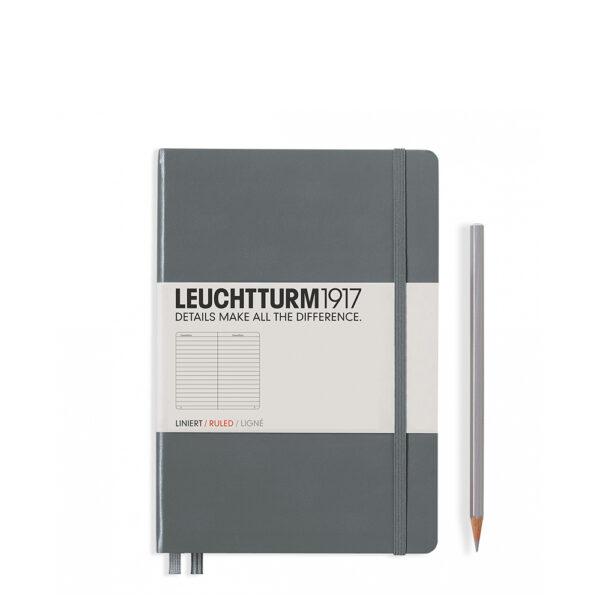 Блокнот Leuchtturm1917 середній, антрацит, лінія